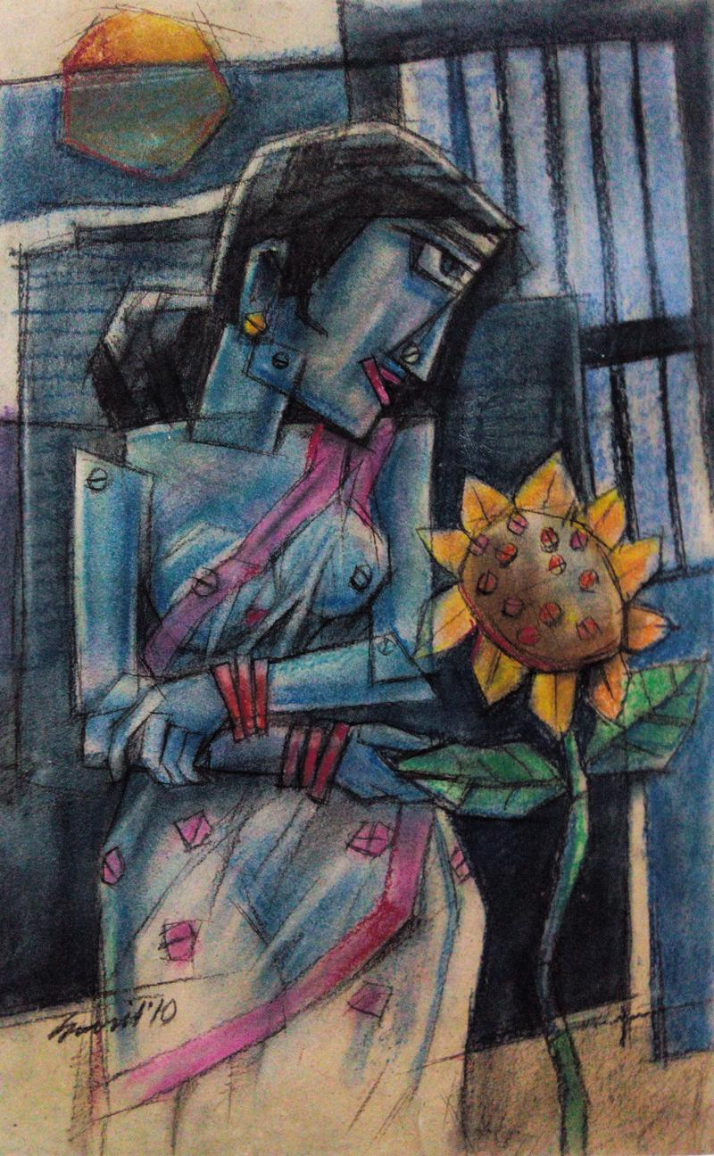 The lady With Sunflower